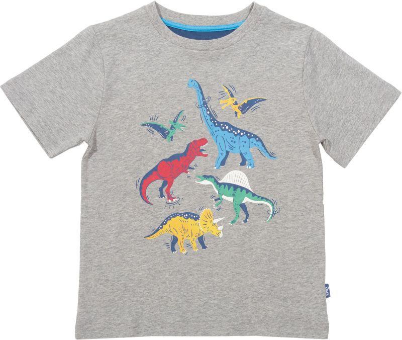 Grau meliertes Jungs-Shirt mit Dinos