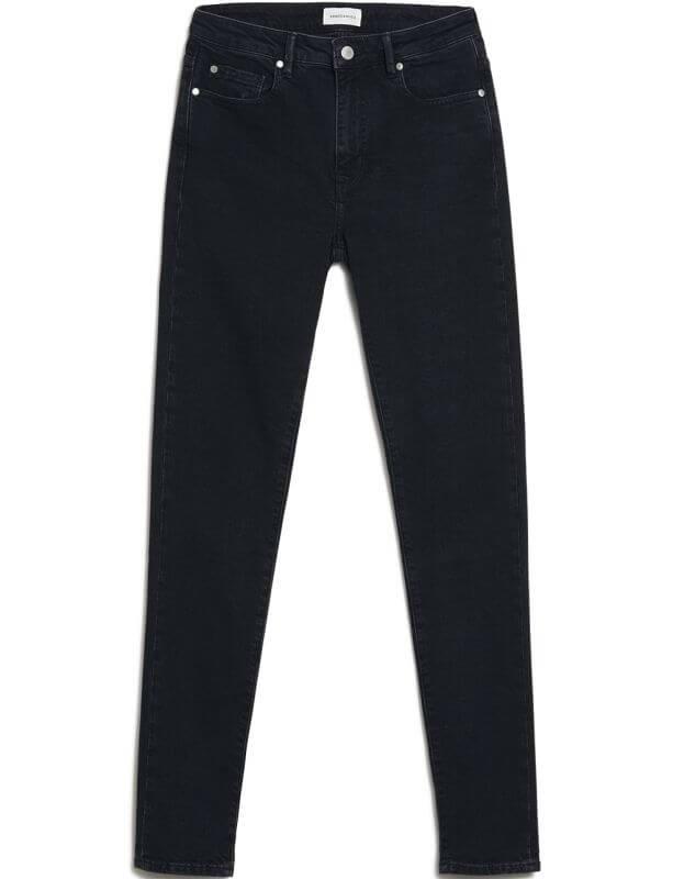 Damen-Jeans TILLAA Skinny Fit washed down black