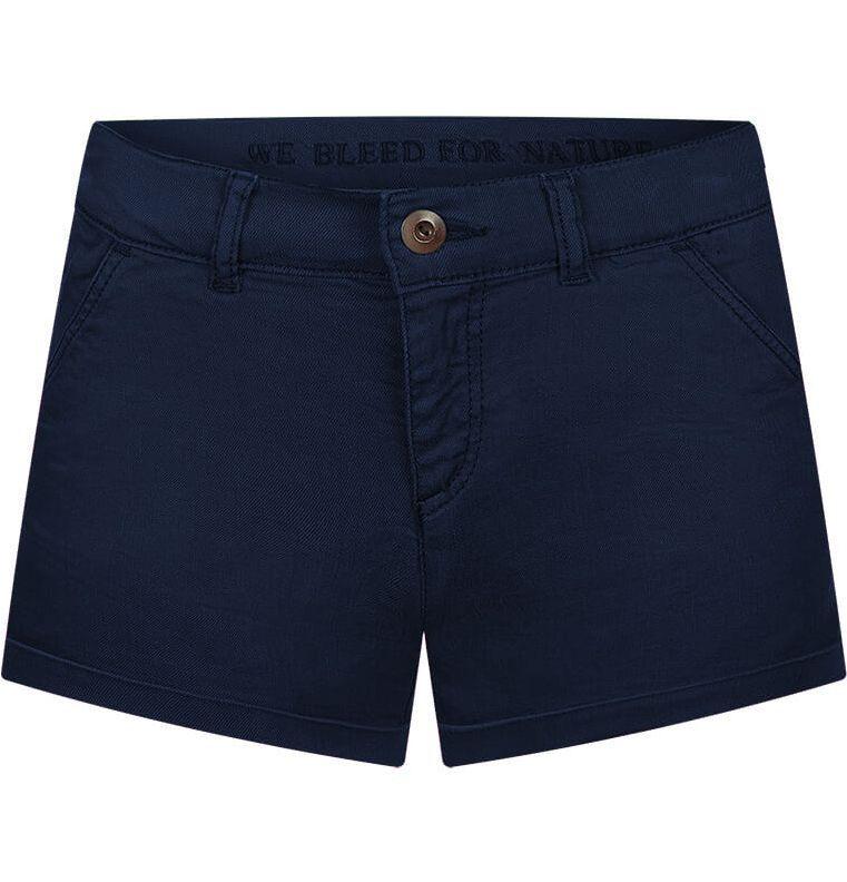 Dunkelblaue Damen Chino-Shorts