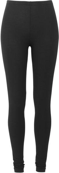 Bequeme Basic-Leggings schwarz