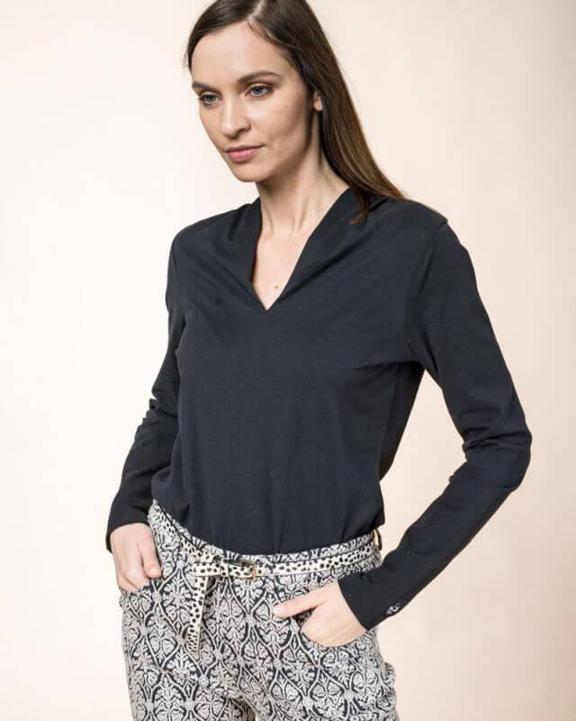 Schickes Langarm-Shirt Kelch für Damen raven