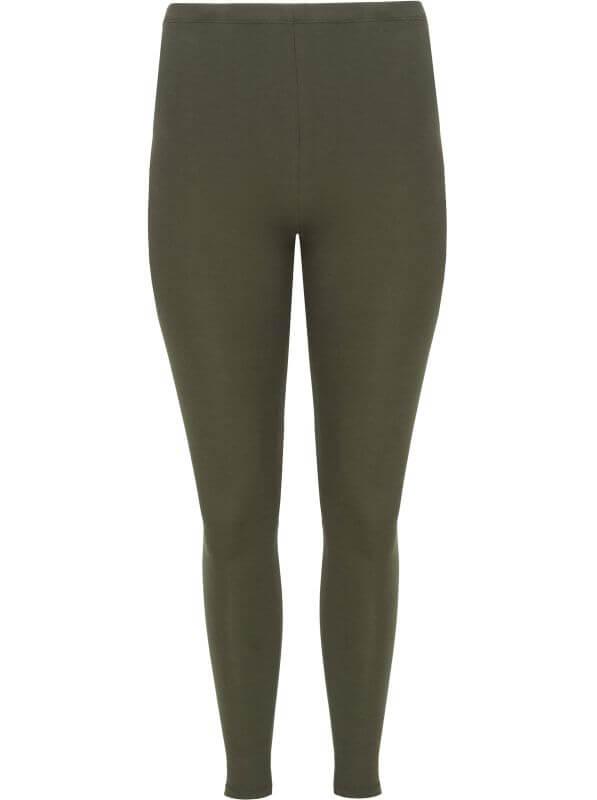 Bequeme Basic-Leggings khaki