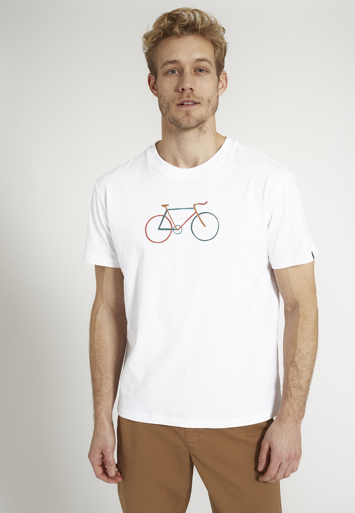 Herren-Shirt AGAVE BIKE white