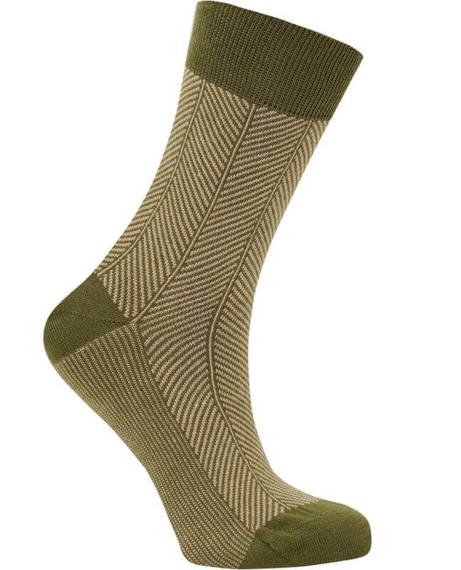 Bequeme Socken HERRINGBONE olive unisex