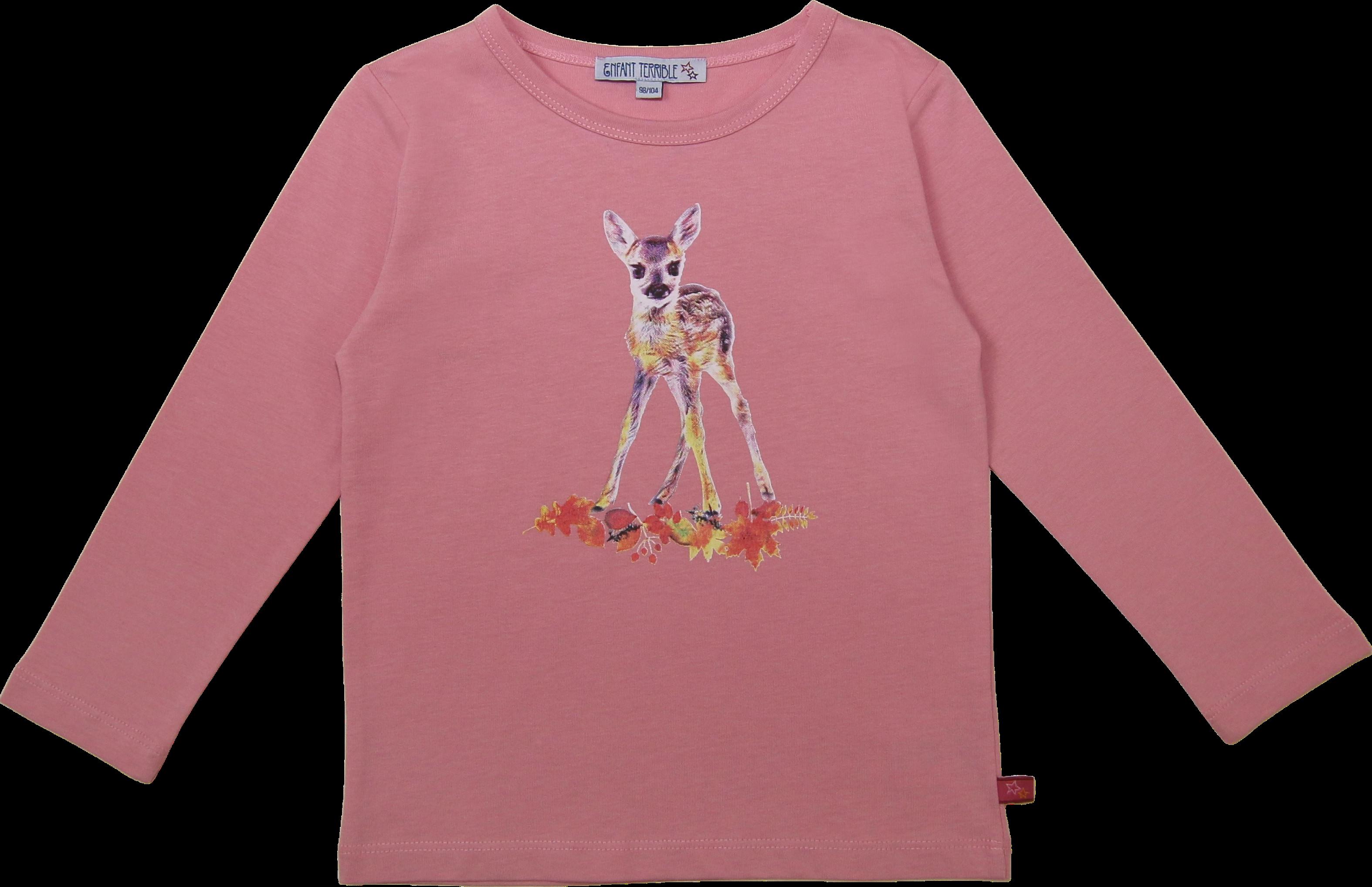 Kinder-Langarmshirt mit Reh rose