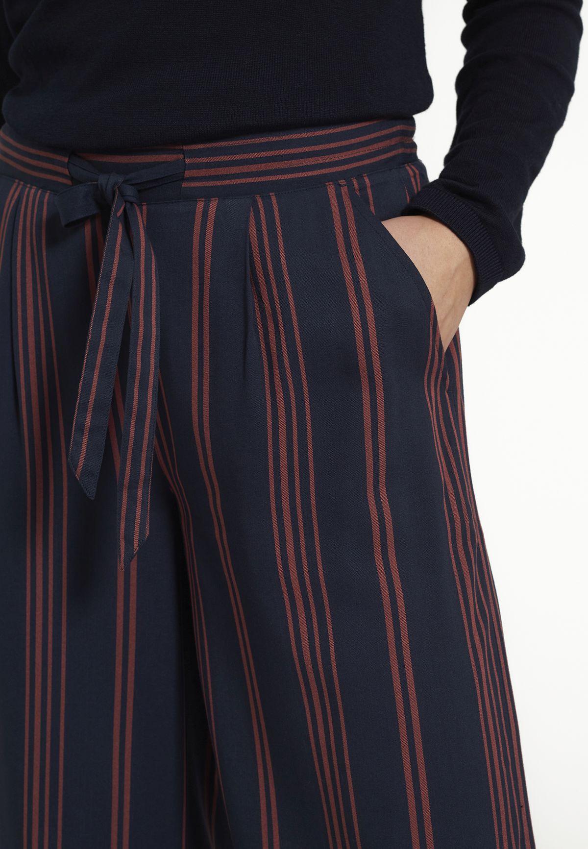 Gestreifte Damen-Culotte PERSEA ruby red/ navy