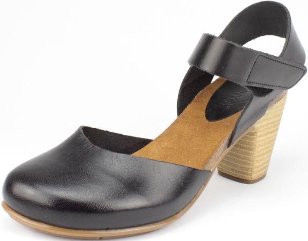 Schicke Leder-Sandalen in Schwarz