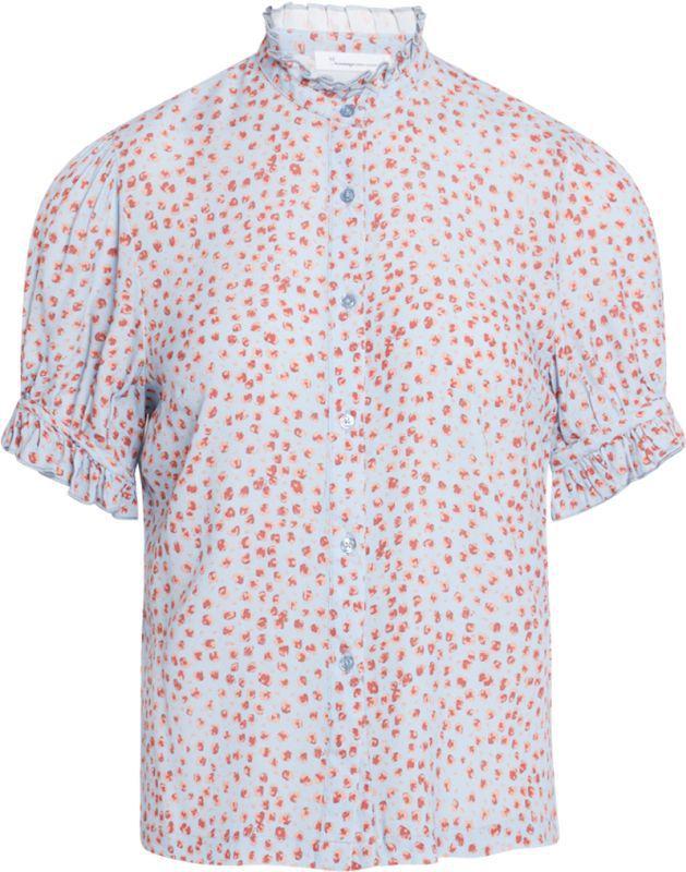 Schicke Chiffon-Bluse aus Viscose in Asley Blue