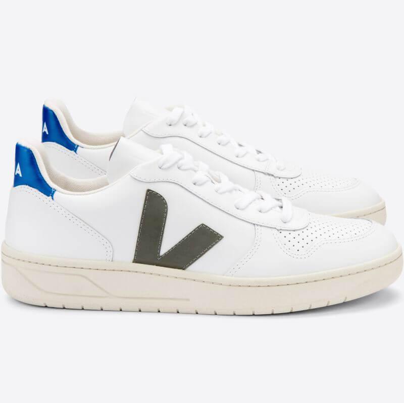 Herren-Sneaker V-10 Extra White/Kaki/Indigo