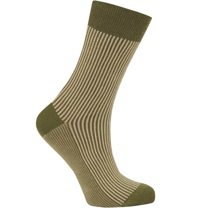 Bequeme Socken VERTICAL olive unisex