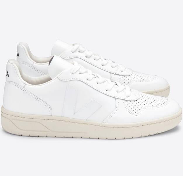 Sneaker V-10 Extra White aus Leder