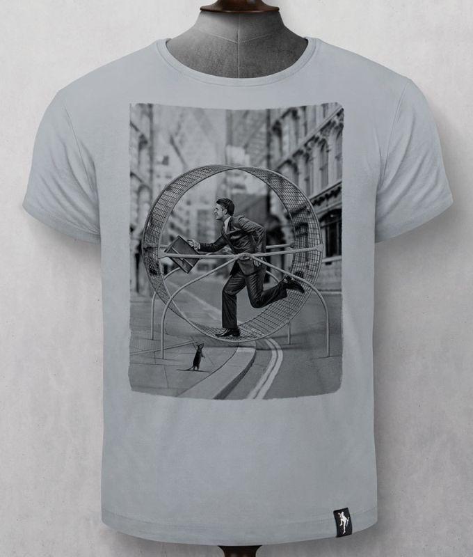 Herren-Shirt Rat Run Highrise Grey