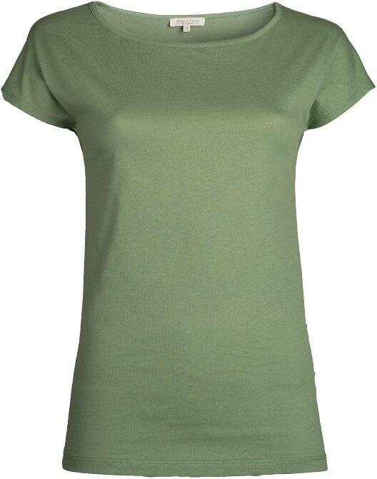 Weiches Basic T-Shirt mineral green