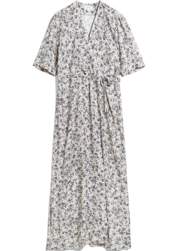 Langes Kurzarm-Kleid VIKTORIAA GREENHOUSE oat