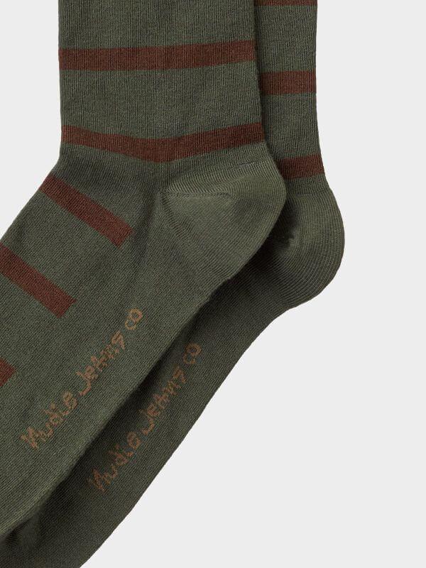 Herren-Socken Olsson Tiger Stripes Olive
