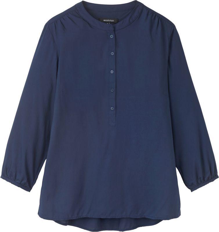 Schicke Bluse aus Viscose in Navy