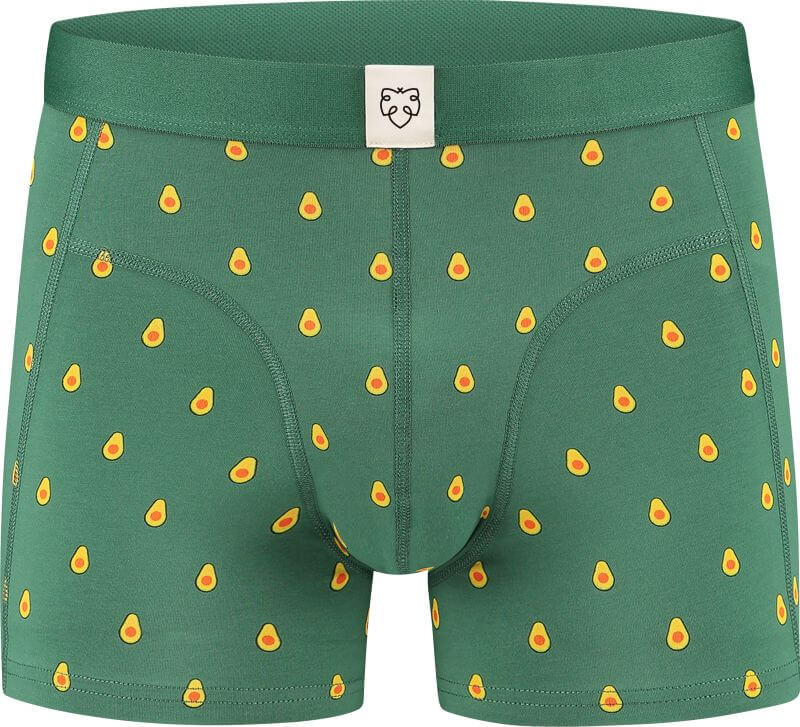 Grüne Herren-Boxer mit Avocados