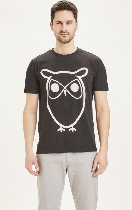 Basic Herren-Shirt ALDER Owl in Black Jet