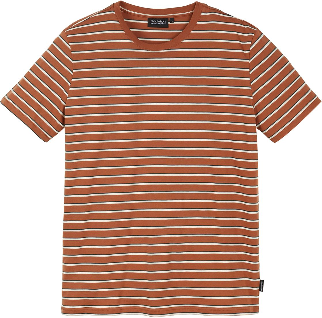 Herren-Shirt CACAO dark orange / offwhite / green forest