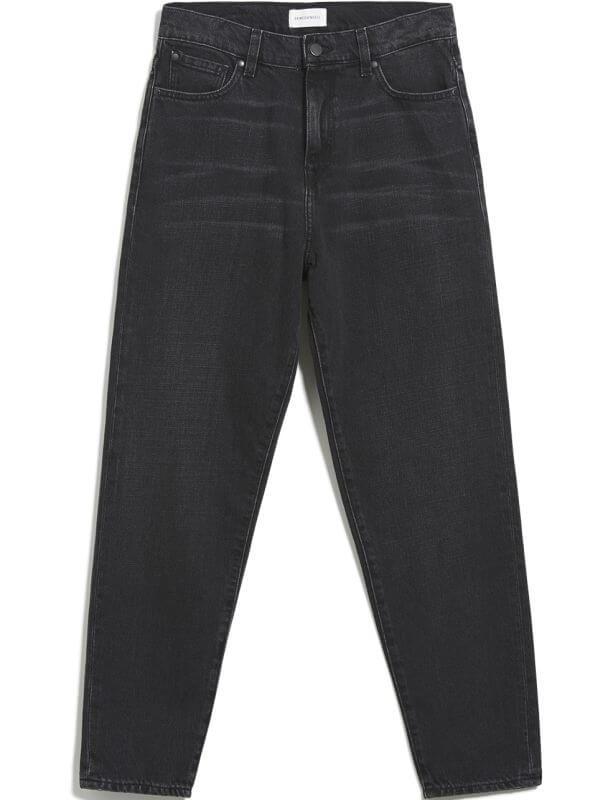 Vegane Mom-Jeans MAIRAA washed down black