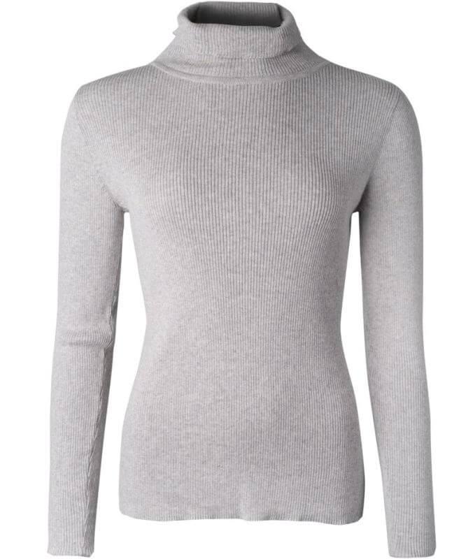 Basic Rollkragen-Pullover für Damen stone