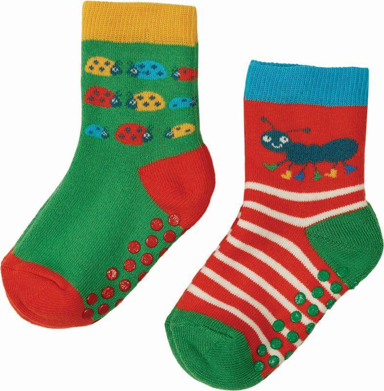 Gemustertes 2er-Pack Kinder-Stopper-Socken