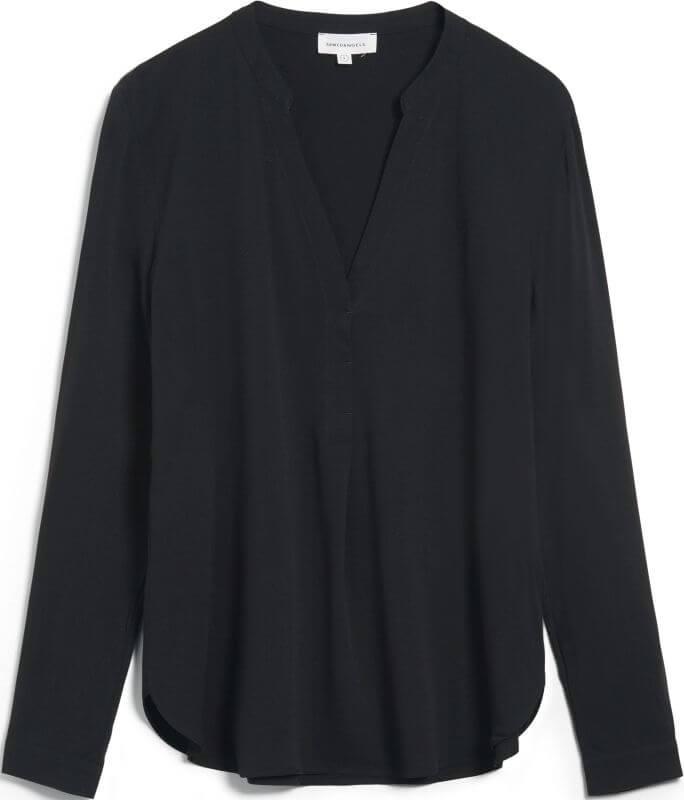 Schicke Langarm-Bluse CEYLAAN black
