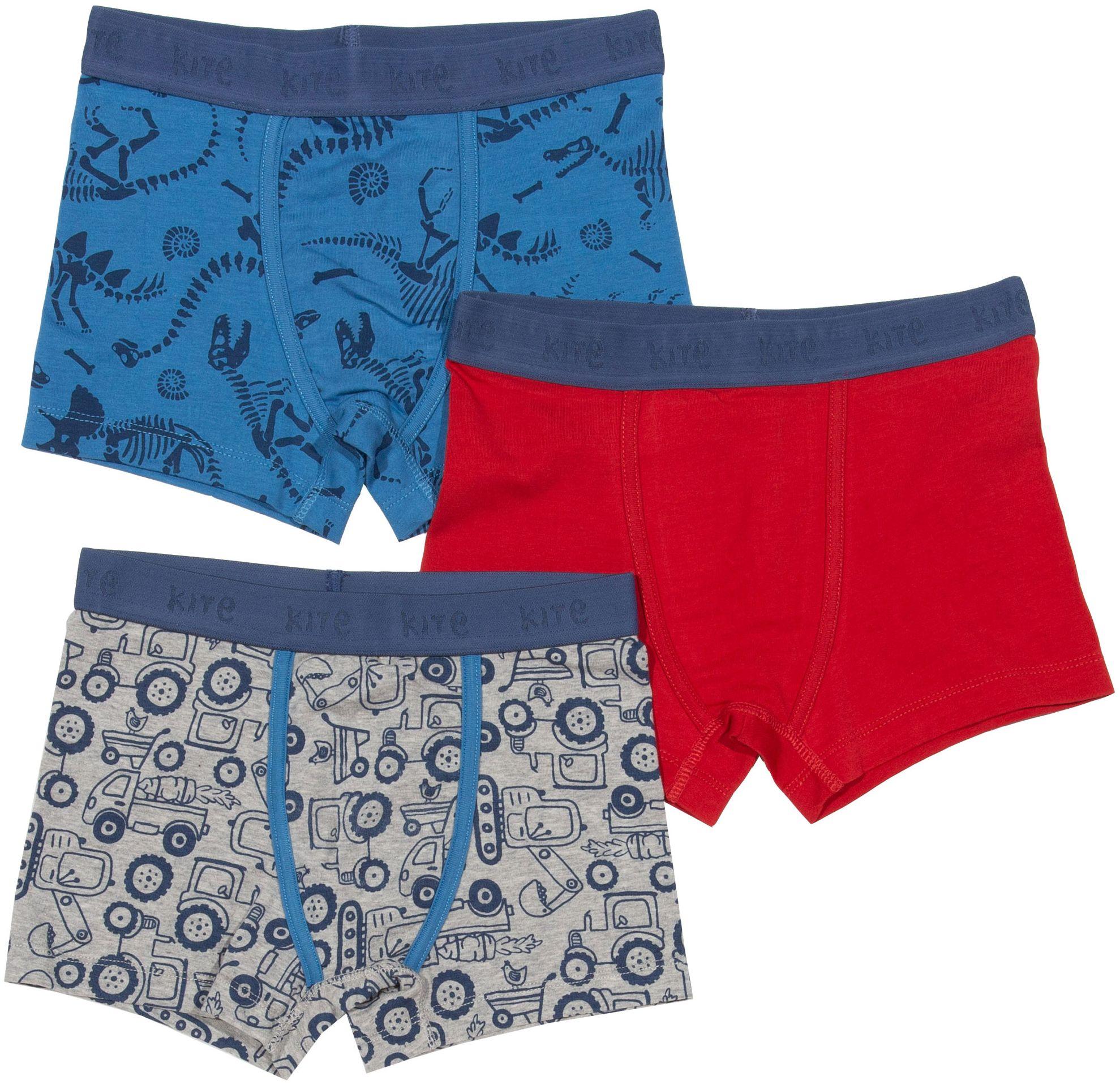 Jungs-Shorts im 3er-Pack mit Dinos und Fahrzeugen