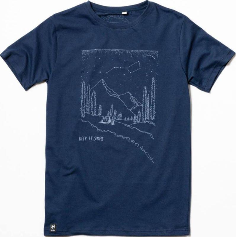 Modisches Herren-Shirt Berge in Dunkelblau