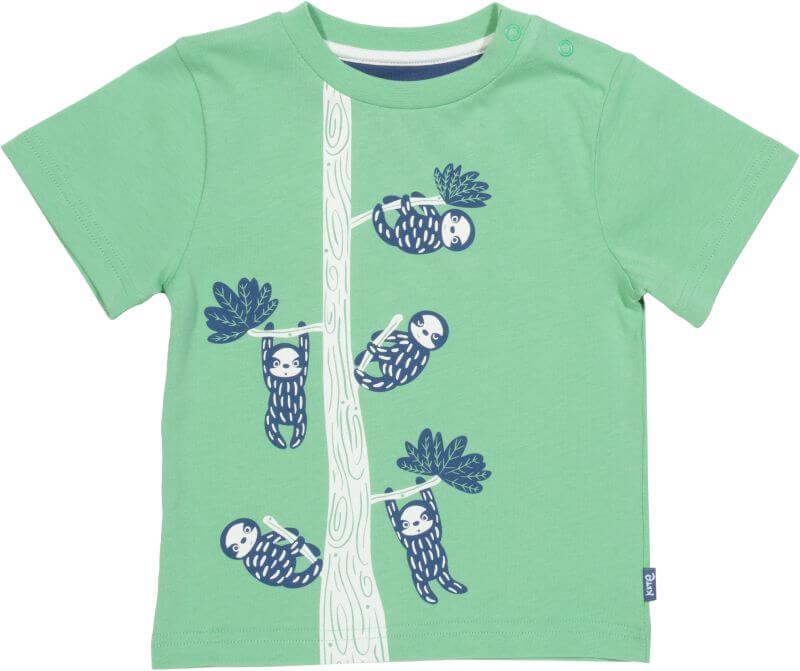 Grünes Baby-Shirt mit Faultieren
