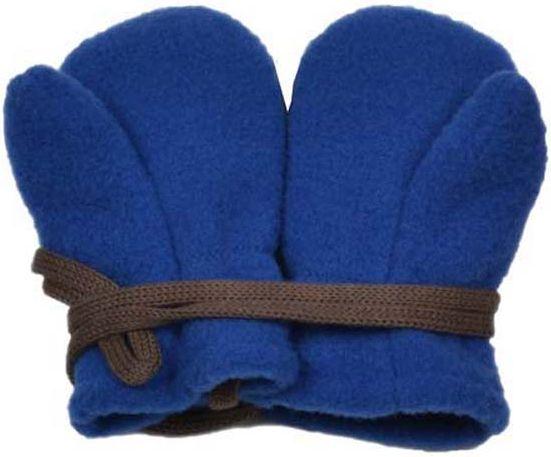 Kuschelige Baby-Fäustel in Blau (100% Wolle)