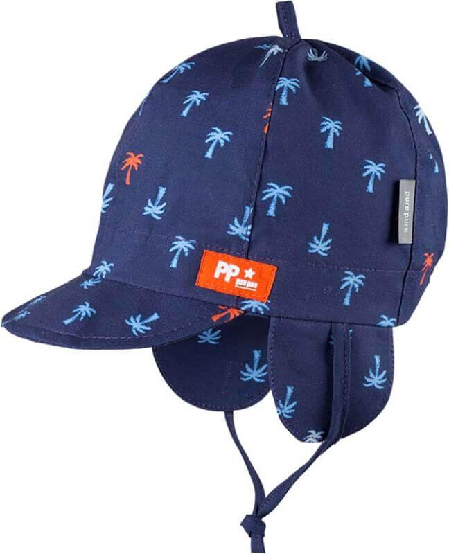 Dunkelblaue Schirmmütze mit Palmen