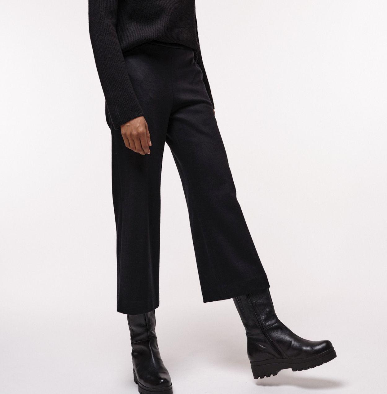 Schicke Damen-Culotte black mit Wolle