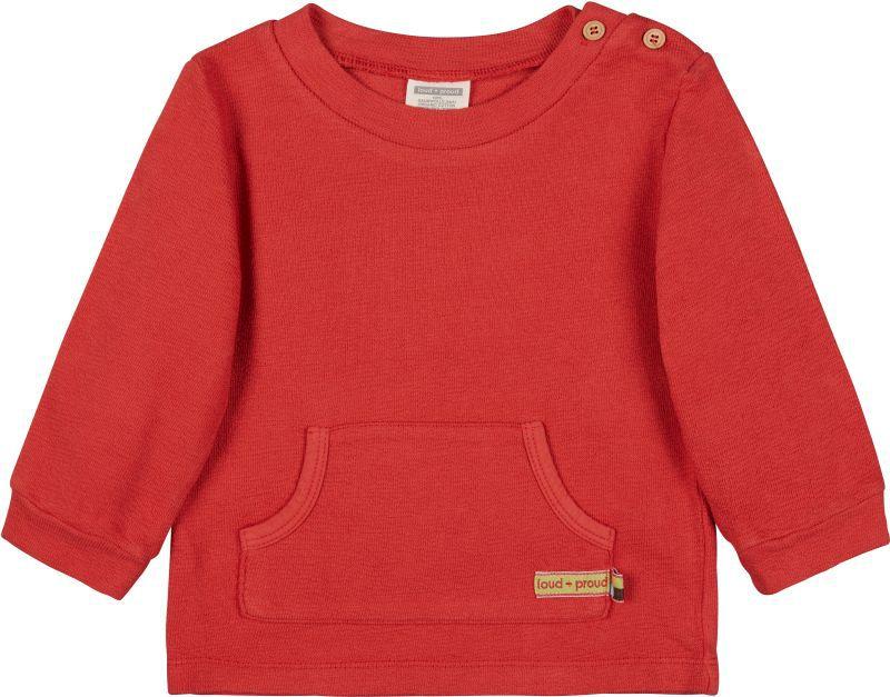 Sweat-Pullover mit Kängurutasche in Chili