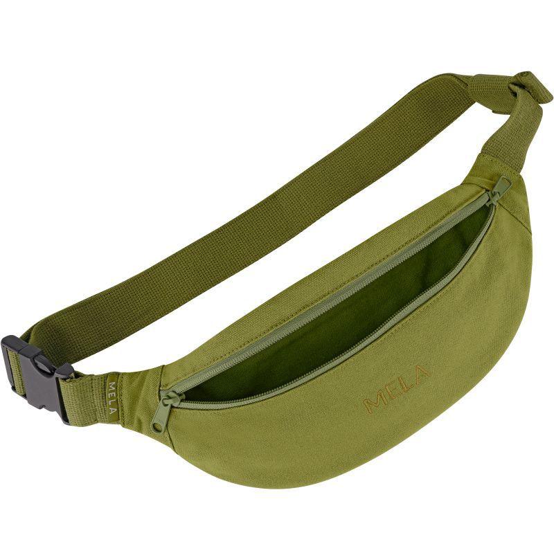 Lässige Bauchtasche mit verstellbarem Gurt in olive green